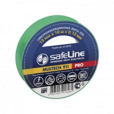 Изолента ПВХ 15мм х 10м зеленая Safeline