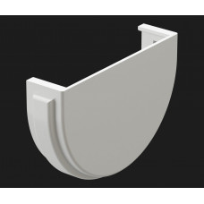 Водостоки Заглушка жёлоба 120/85 Пломбир (белый) Docke PREMIUM
