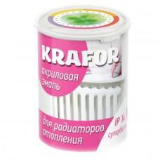 """Эмаль акриловая для радиаторов супербелая 1кг """"KRAFOR"""""""