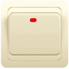 Выключатель 1-кл.СП CLASSIK 10A c индик. крем POWERMAN 1156499