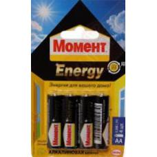 """Батарейка """"Момент Energy"""" тип АА (4шт в блистере) Хенкель"""