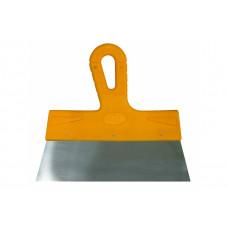 Шпатель фасадный МАСТЕР 200мм нержавеющий желтая ручка Бибер 35176