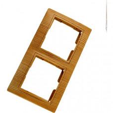 Рамка горизонтальная с/у 2 места сосна Таймыр SQ1814-0226
