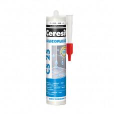 Герметик-затирка силикон CS 25 SilicoFlexx №10 Манхеттен 280мл Ceresit