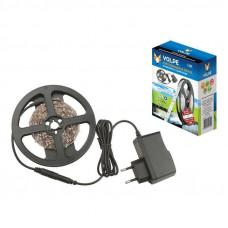 Лента светодиодная + б/п адаптер 12V/24W комплект 60LED 2,5м холодный свет Volpe ULS-Q721