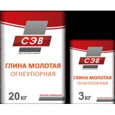 Печная огнеупорная глина 20кг СЭВ (Боровичи)