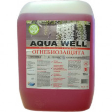 Огнебиозащита красная БСА-42 (2 группа) Agua well 10л