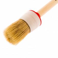 Кисть круглая №10 (40мм) натуральная щетина дерев.ручка KRAFOR 001-0040