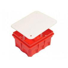 Коробка распред. с/у 120х100х60мм для твёрдых стен с крышкой HEGEL KP1102