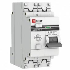 Дифференциальный автомат АД-32 1P+N 20A/30mA EKF PROxima