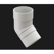 Водостоки Колено (45⁰) 120/85 Пломбир (белый) Docke PREMIUM