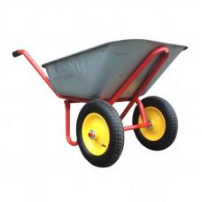 Тачка строительная оцинк. 110л. 2 колеса с подшипником (3.25-8)