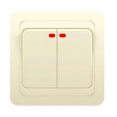 Выключатель 2-кл. СП CLASSIC 10A c индик.крем. POWERMAN 1156500