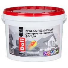 Краска Резиновая Dali Красно-Коричневая 12кг