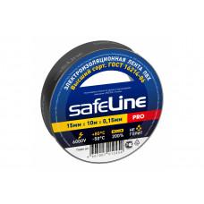 Изолента ПВХ 15мм х 10м чёрная Safeline