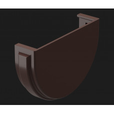 Водостоки Заглушка жёлоба 120/85 Шоколад (коричневый) Docke PREMIUM
