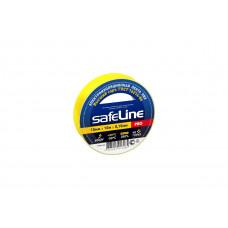 Изолента ПВХ 15мм х 10м жёлтая Safeline