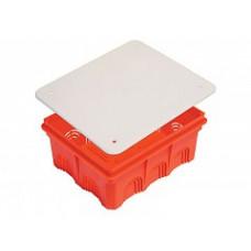 Коробка распред. с/у 160х130х70мм для твёрдых стен с крышкой HEGEL KP1103